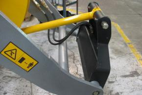 Hydraulic quick bucket for loaders