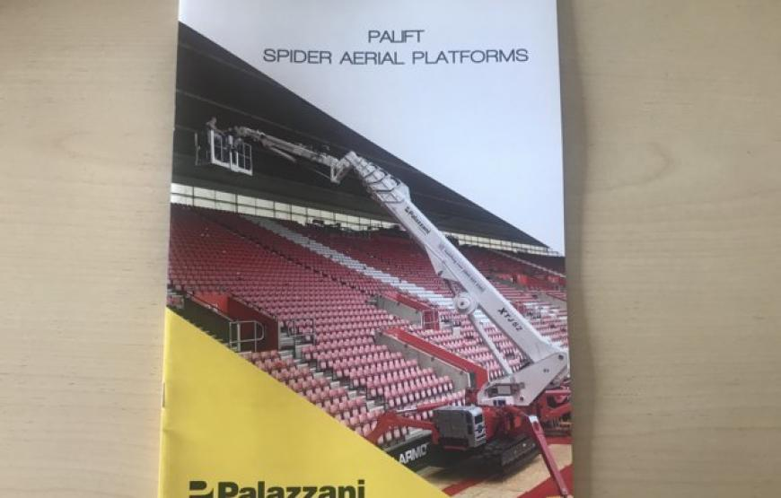 THE NEW PALIFT GENERAL CATALOG: A SINGLE BROCHURE HIGHLIGHTING ALL MODELS, FEATURES, BENEFITS AND AVAILABLE OPTIONAL ITEMS OF PALAZZANI SPIDER LIFTS RANGE